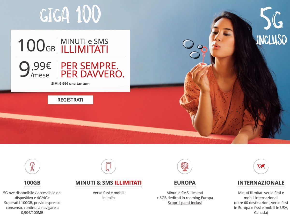 Iliad trasforma Flash 100 nell'offerta Giga 100