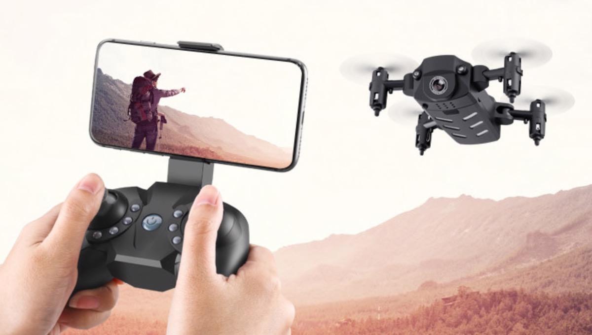 Mini drone KK8 con videocamera 4K in offerta lampo a 36,25 euro