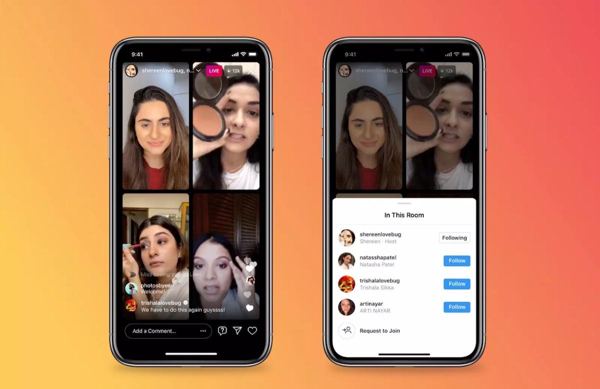 Su Instagram presto le Live con quattro utenti