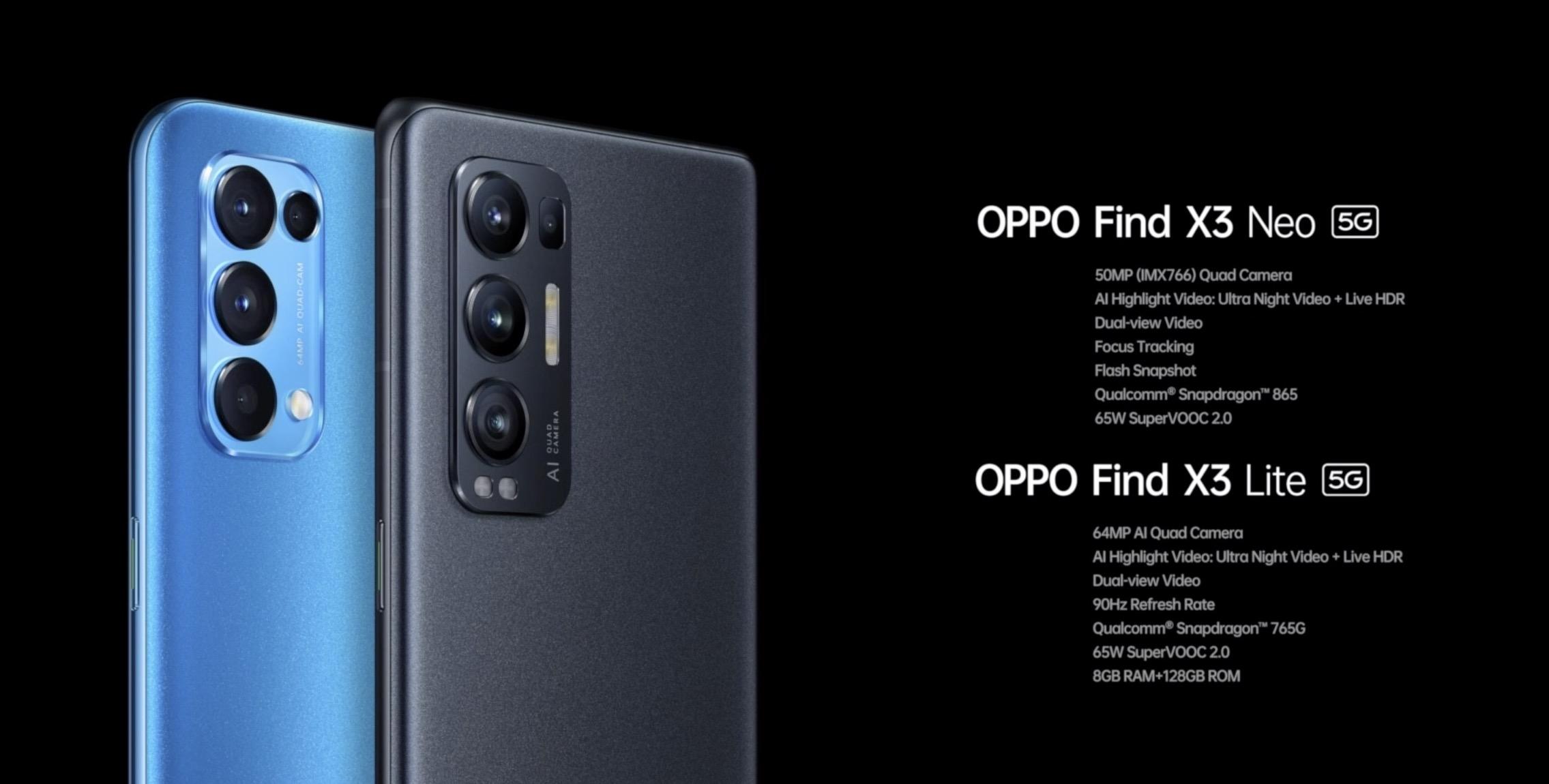 Oppo Find X3 e Oppo Find X3 Pro, tutto quel che c'è da sapere