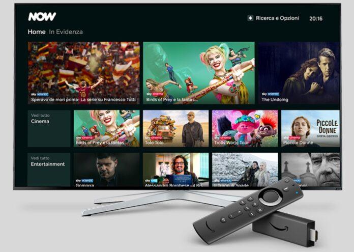 Sky Now è disponibile sui dispositivi Amazon Fire TV