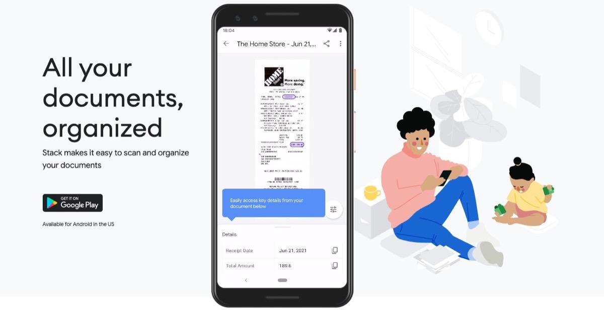 Stack è l'app di Google per non perdere scontrini e fatture