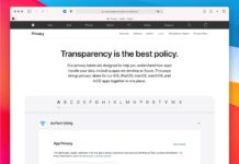 Apple, le etichette sulla privacy delle sue app in un'unica pagina