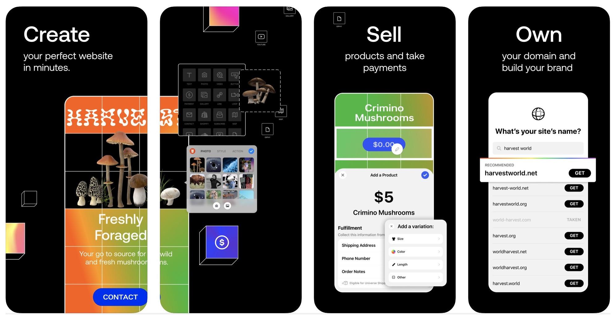 Universe, app per creare siti web da iPhone e iPad