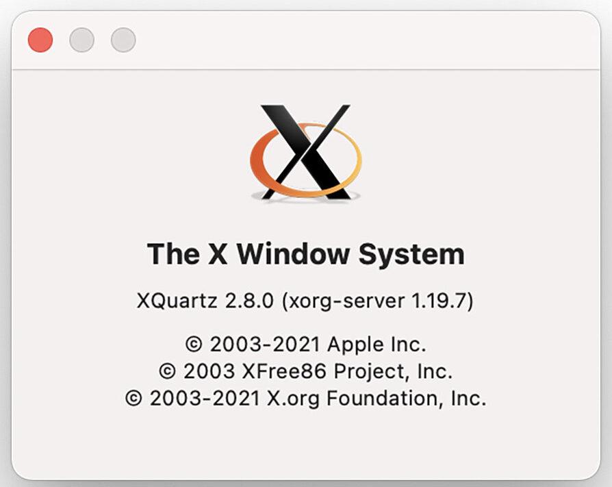 XQuartz è ottimizzato per i Mac con CPU Apple Silicon