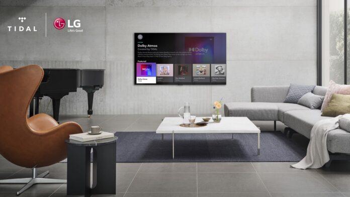 Tidal è ora disponibile sui TV LG