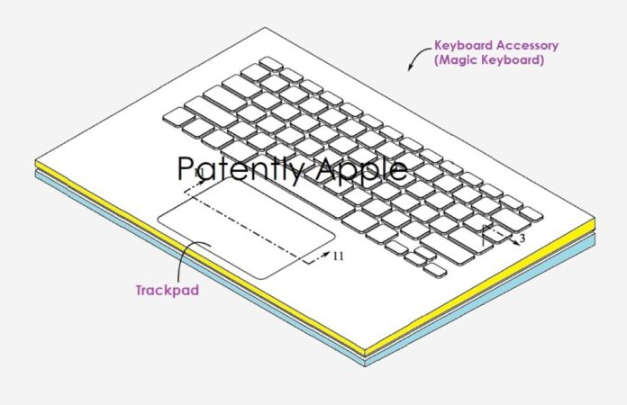 Brevetto mostra la combo Magic Keyboard e Trackpad con supporto Apple Pencil