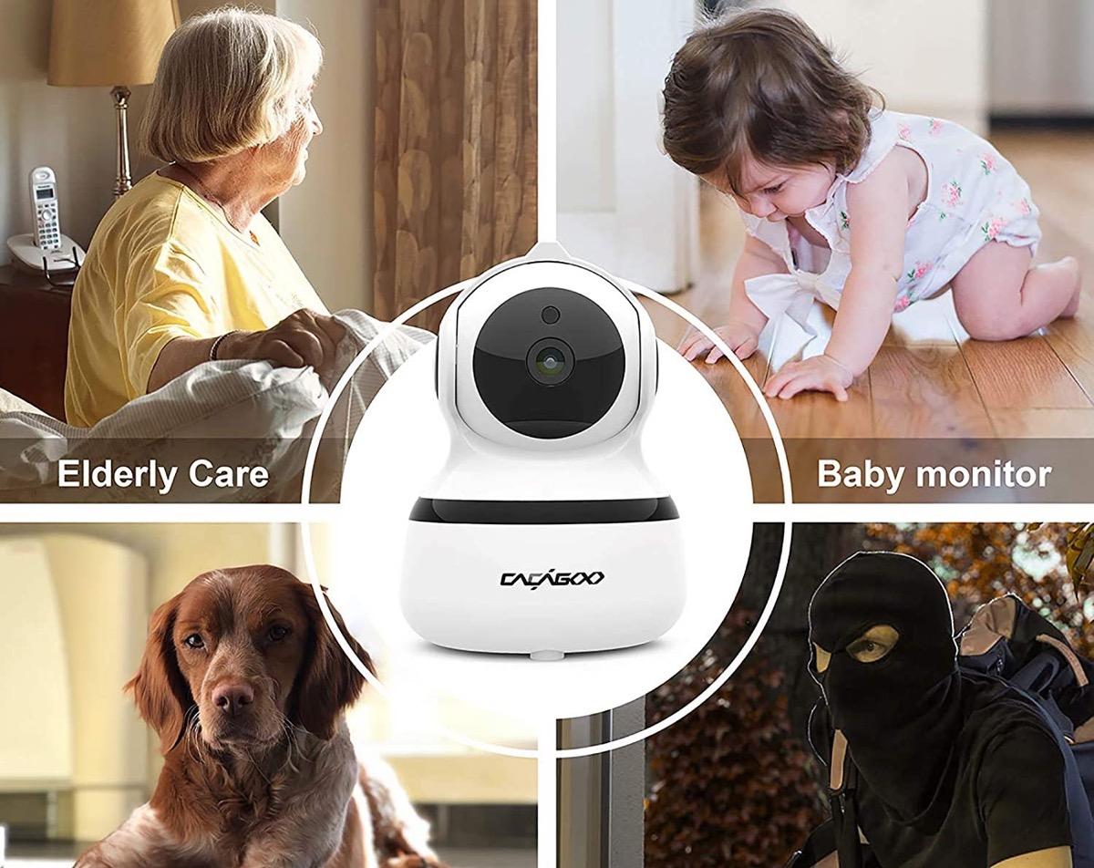 Da CACAGOO la telecamera di sicurezza per interni ad appena 22,94 euro