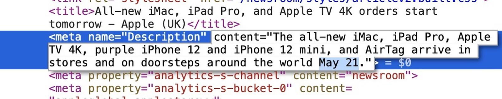Apple avvisa che iMac M1 si compra in tutti colori solo online