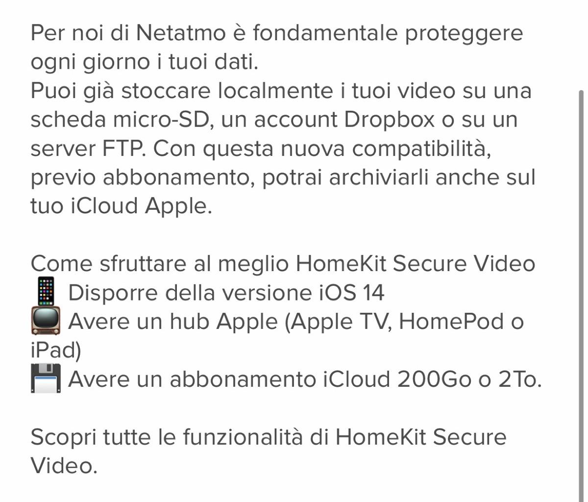 La videocamera esterna intelligente Netatmo ora compatibile con Homekit Secure Video