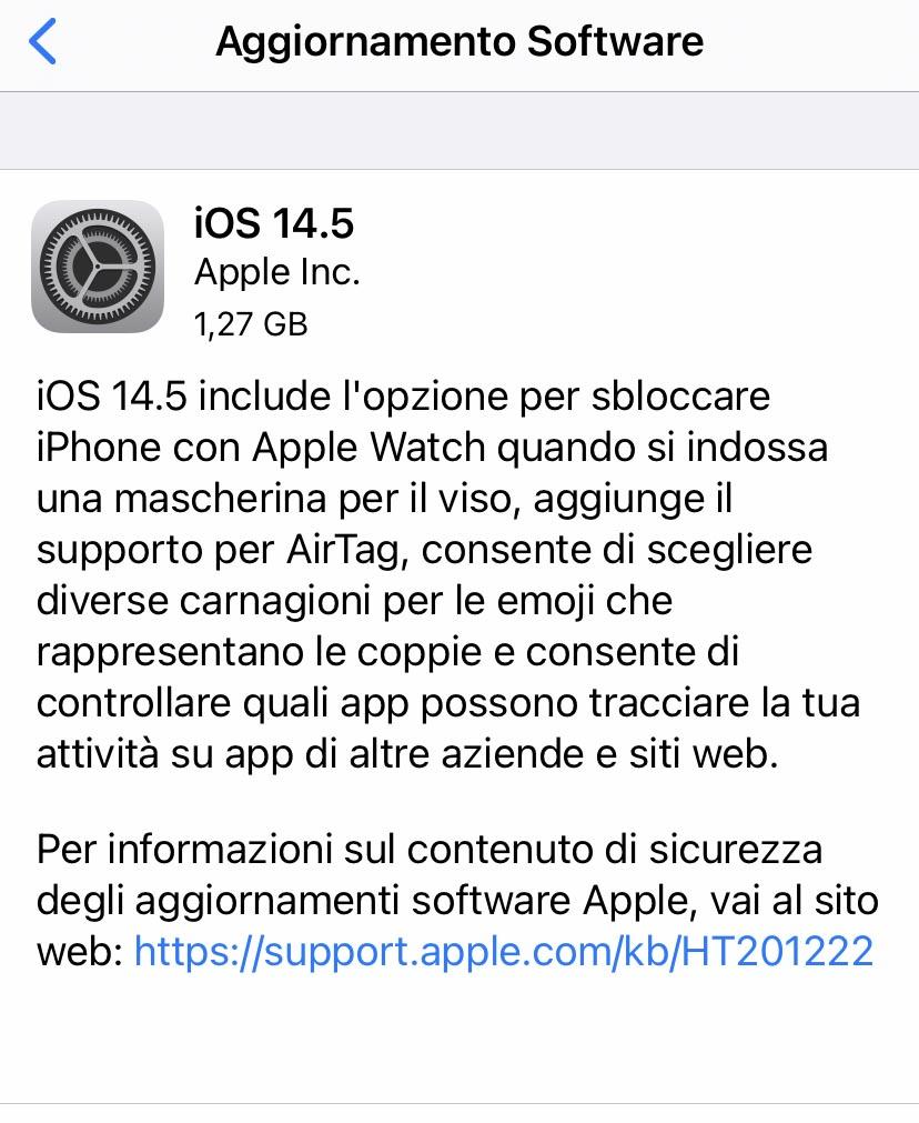 È arrivato iOS 14.5: come e dove scaricarlo