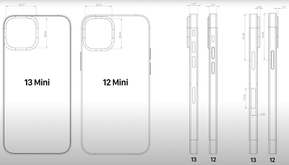 iPhone 13, il blocco fotocamere aumenta dimensioni e spessore