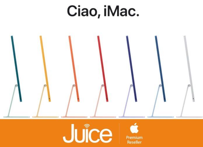 Da Juice si prenotano iMac e iPad Pro M1, aperti il 1° maggio