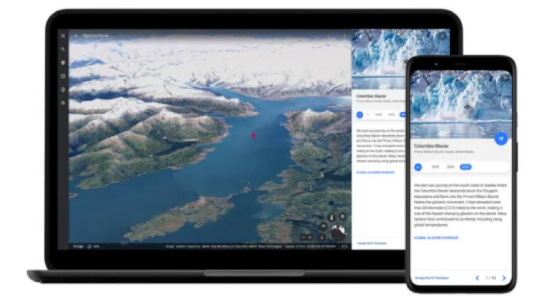 Google Earth mostra le devastazioni del cambiamento climatico