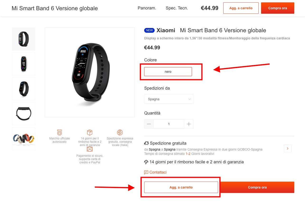 Xiaomi Mi Band 6 al miglior prezzo: solo 39€ con spedizione gratis