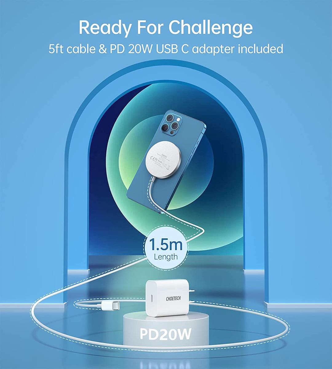 In offerta il caricatore wireless CHOETECH con MagSafge: su Amazon a 25,99 euro
