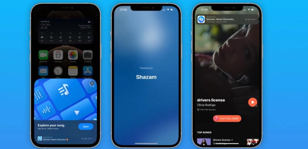 Shazam diventa una App Clip in iOS 14.6