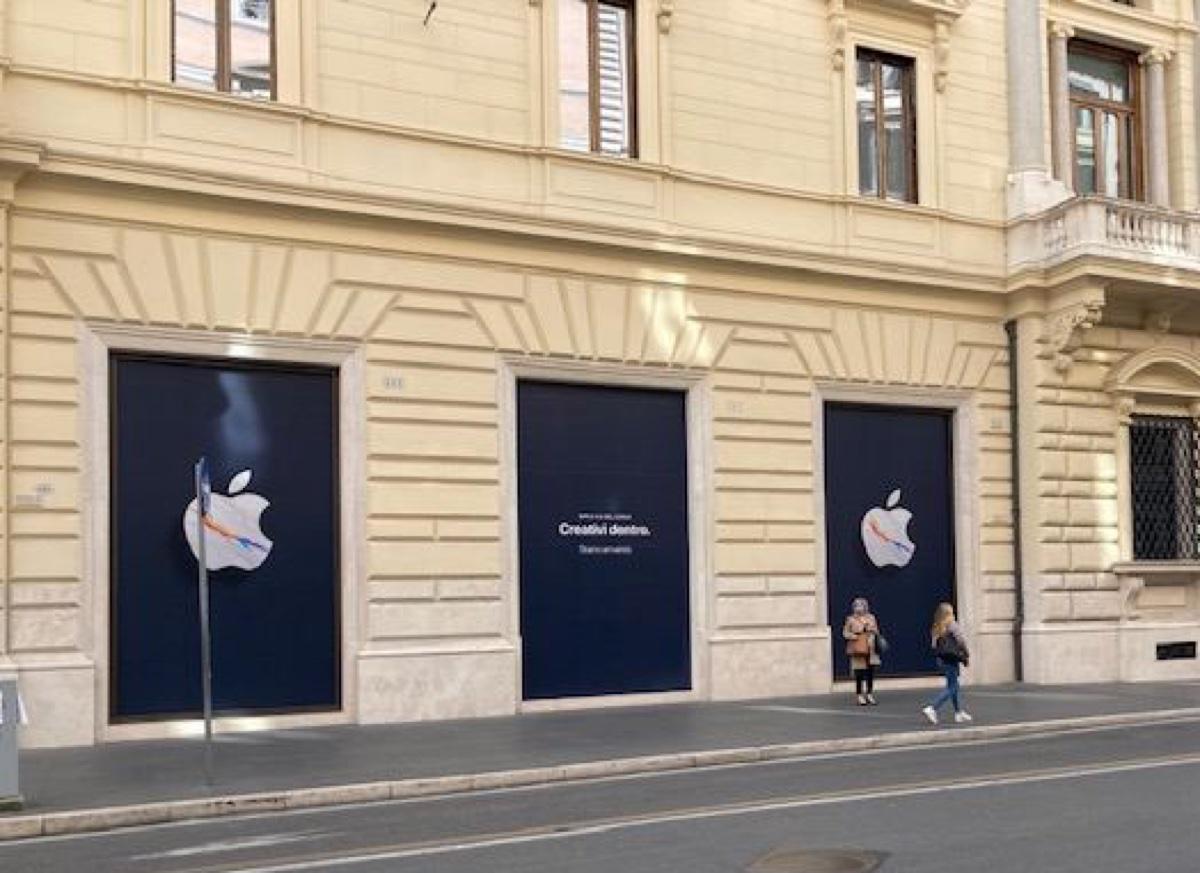 Apple Store Roma Via del Corso, scatta il conto alla rovescia