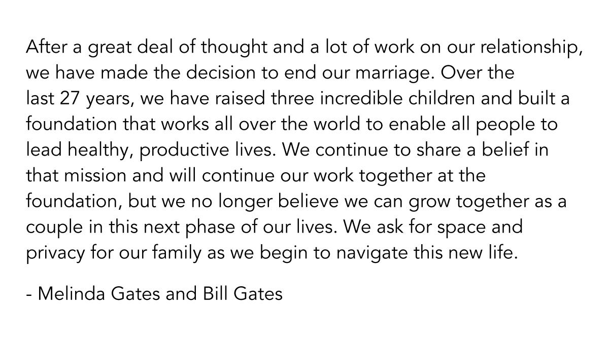 bill gates divorzia da melinda