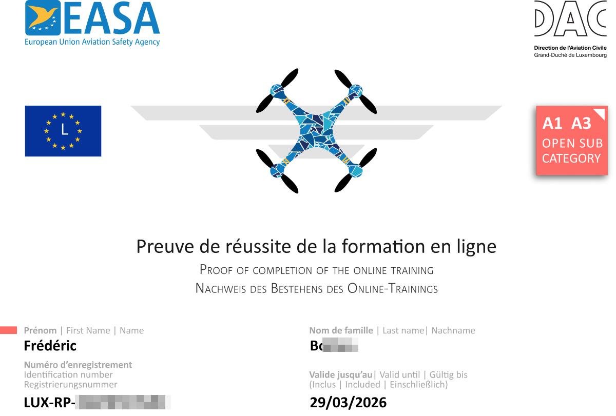 Patentino drone A1/A3, come ottenerlo completamente gratis