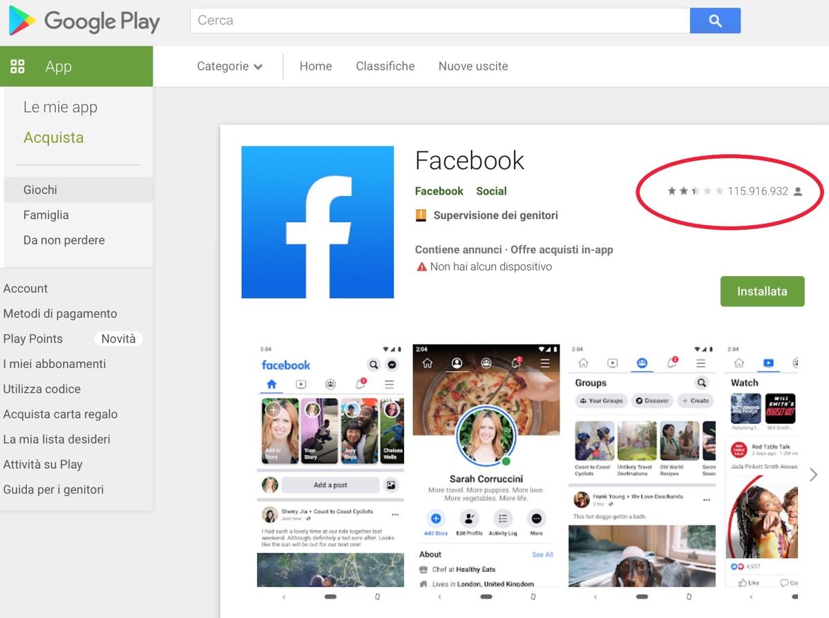 Apple rifiuta di rimuovere le recensioni negative a Facebook per motivi politici