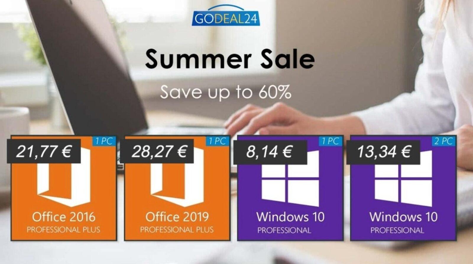 Licenza a vita Microsoft Windows 10 a 6 €, Office solo 15 €
