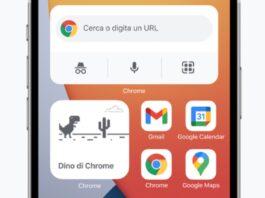 Chrome 90 per iPhone e iPad supporta i widget