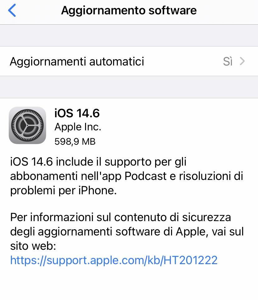 autonomia iOS 14.6