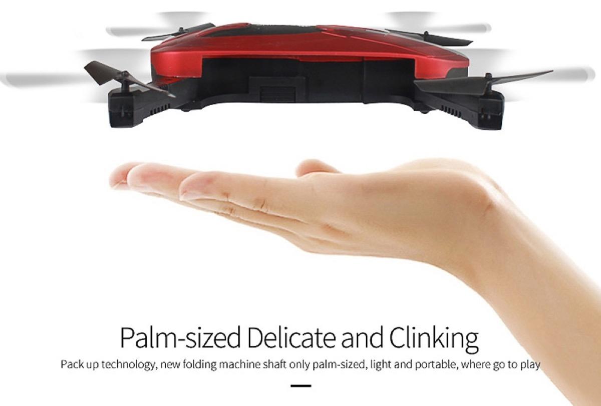 JD-18TX è il drone pieghevole tascabile