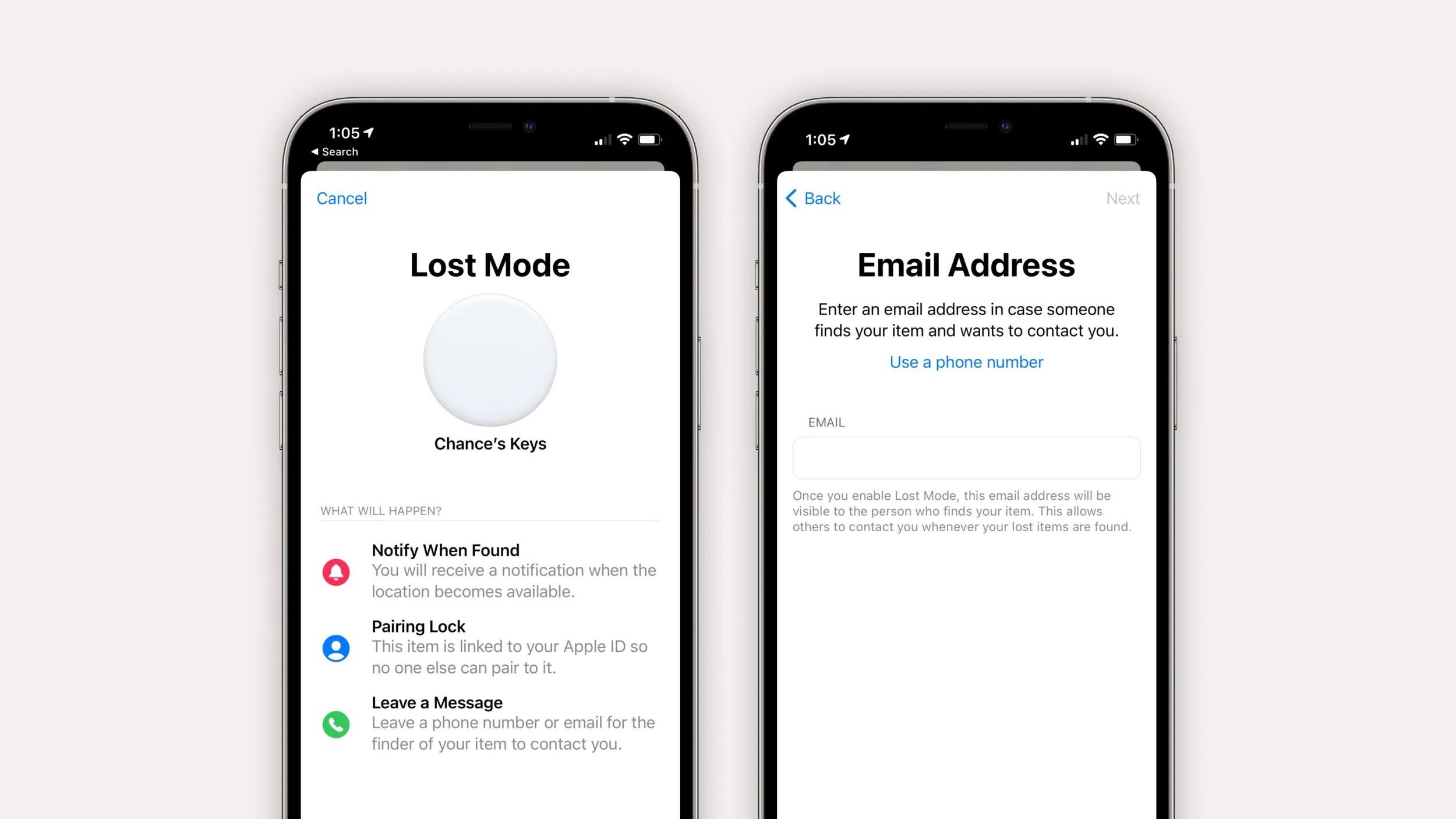 iOS 14.6 permette di specificare una mail per gli AirTag smarriti