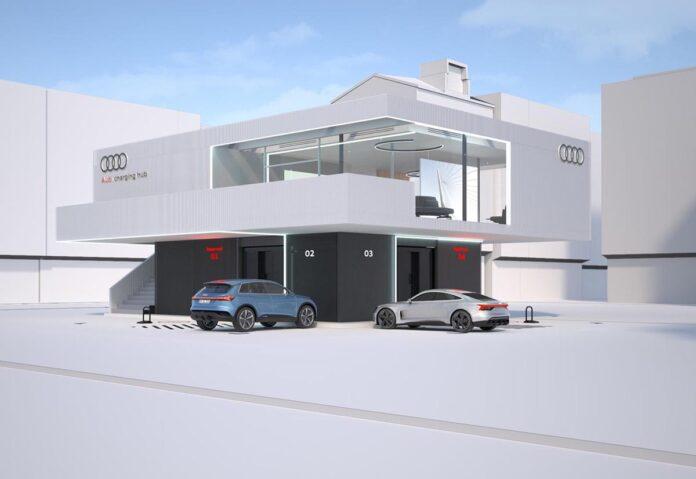 Audi, progetto pilota per lounge di ricarica rapida