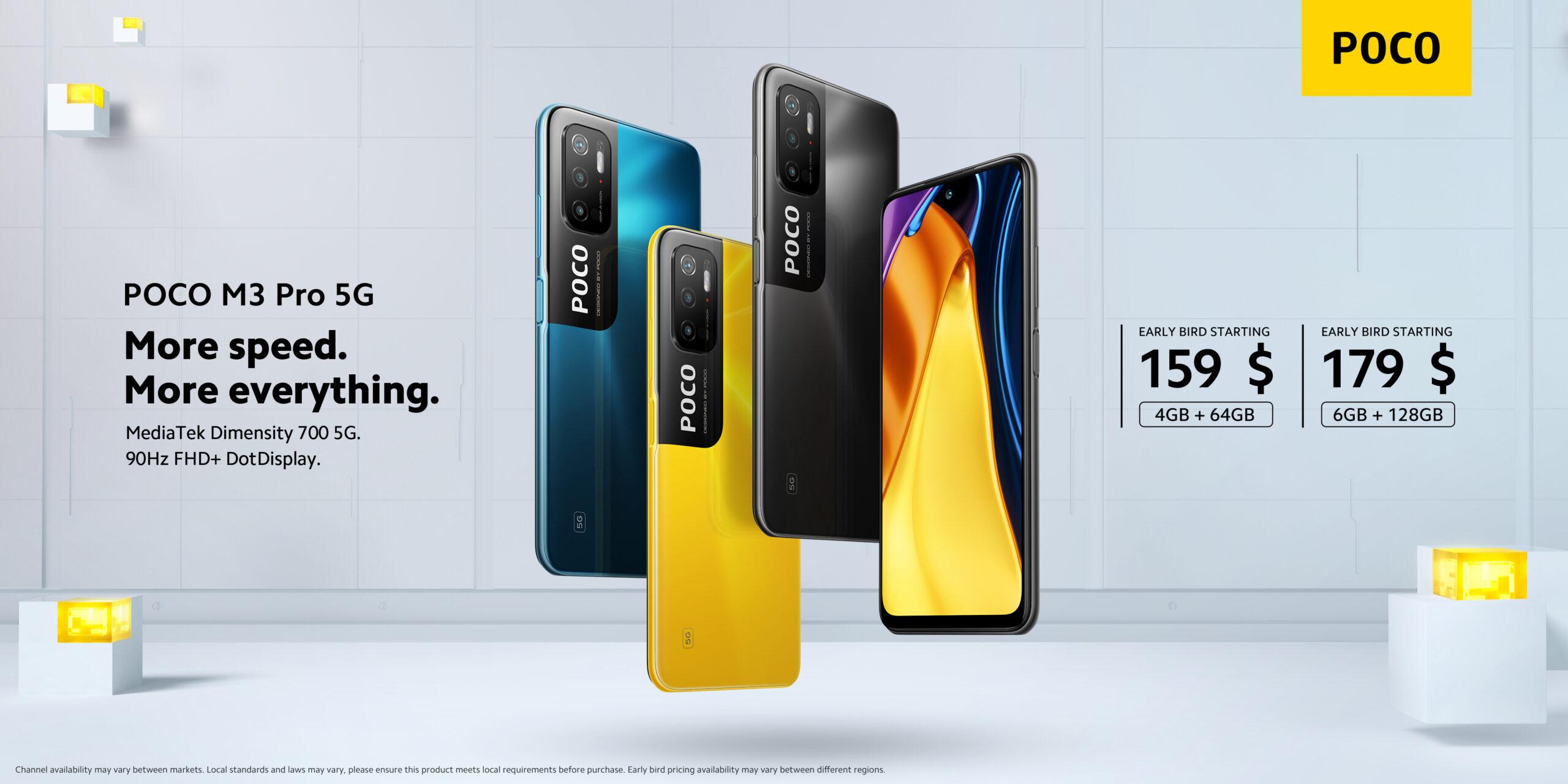Poco M3 Pro 5G: display a 90Hz e supporto 5G a meno di 150 euro