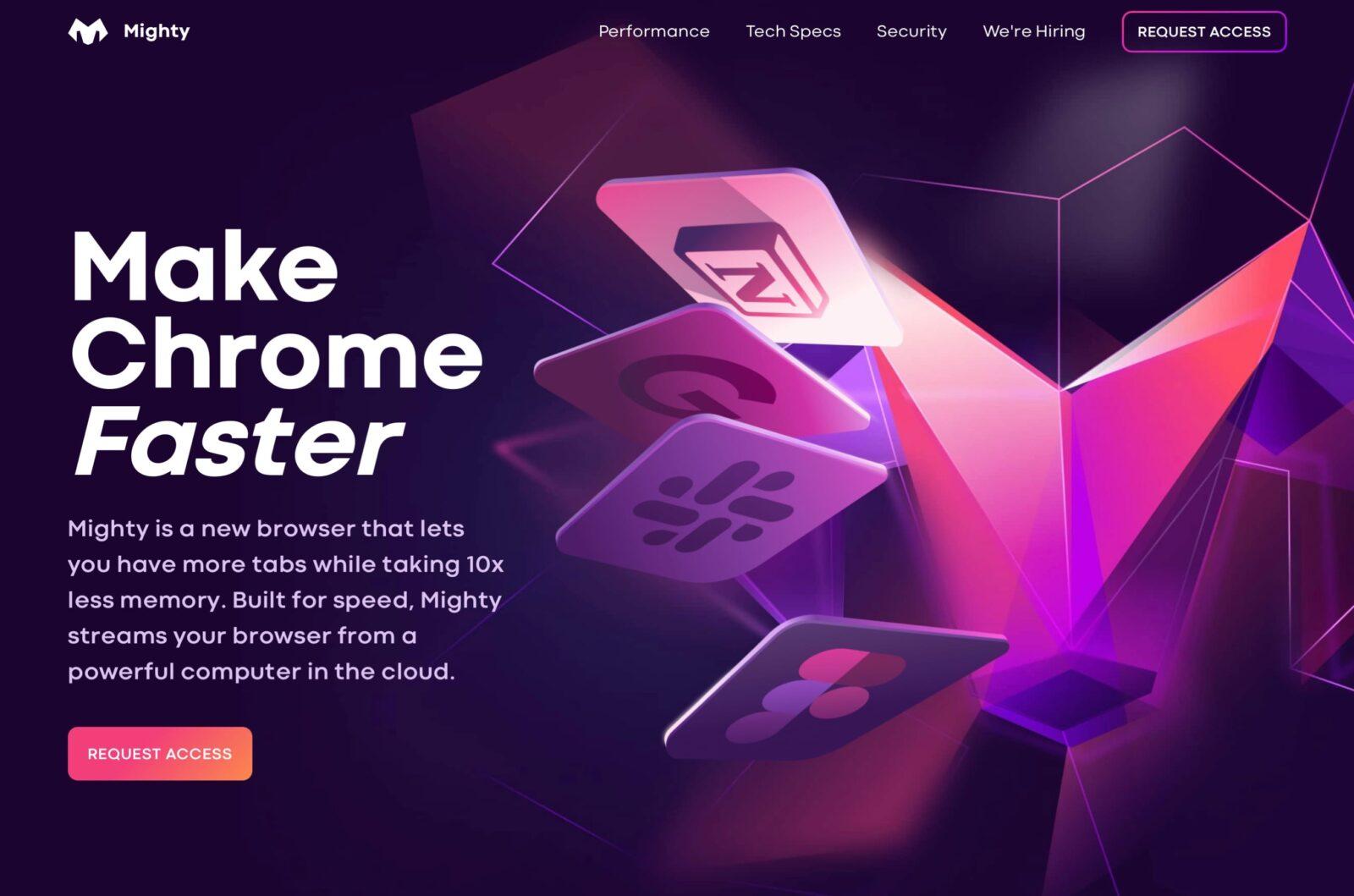 Chrome lento? Mighty risolve il problema offrendo il browser su server