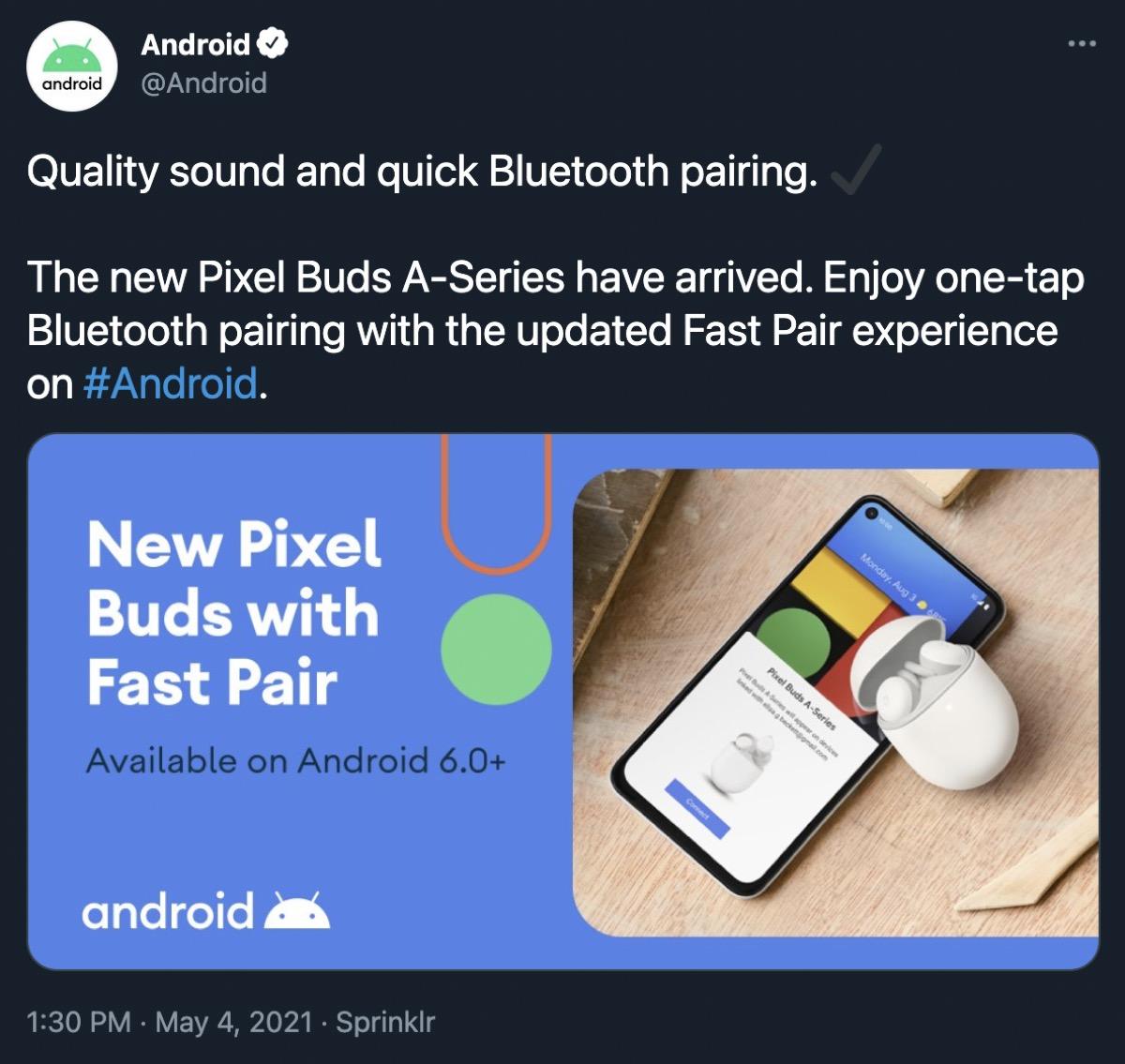 Google twitta e poi cancella l'annuncio di Pixel Buds A