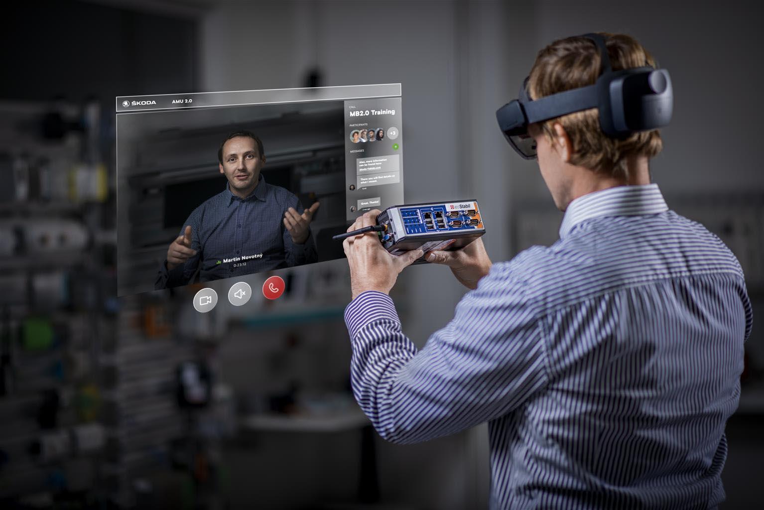 Skoda, la Realtà Aumentata per manutenzione e formazione del personale tecnico