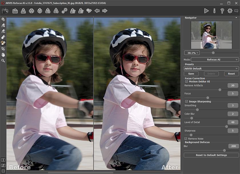 AKVIS Refocus AI 11.0 per Mac e PC: l'AI per migliorare le foto sfocate