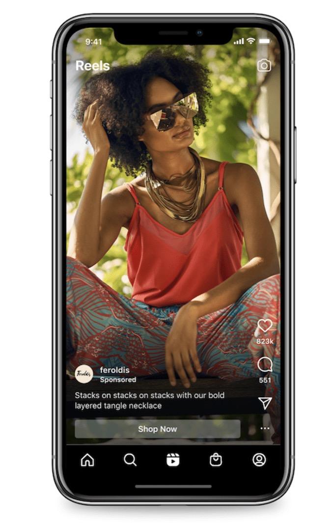 Arrivano le pubblicità su Instagram Reels