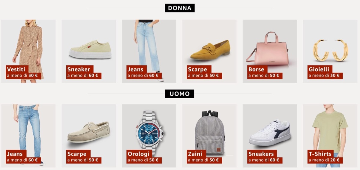 amazon moda sconto