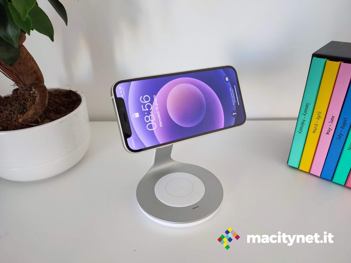Recensione caricabatterie wireless magnetico Anker 2-in-1