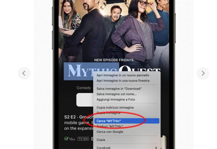 macOS Monterey, più facile copiare e incollare testi da immagini