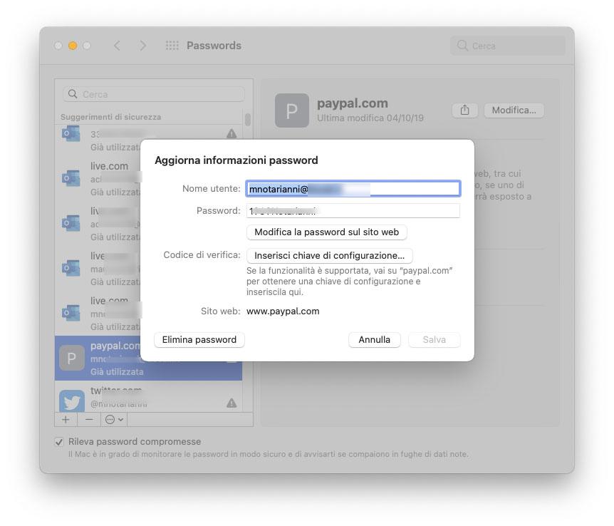 macOS Monterey, password in Preferenze di Sistema e migliorie nel portachiavi iCloud
