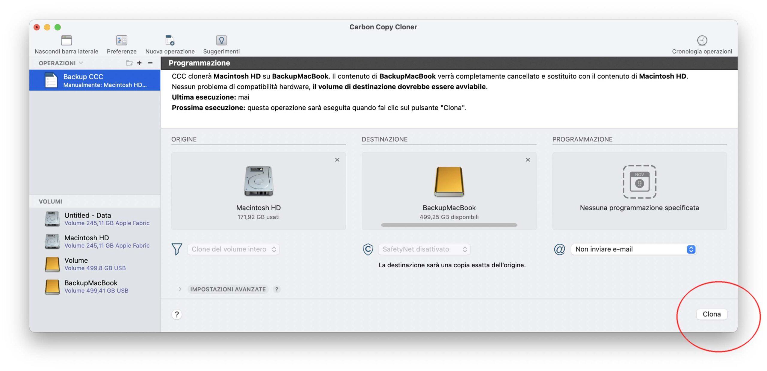 Come clonare il disco del Mac