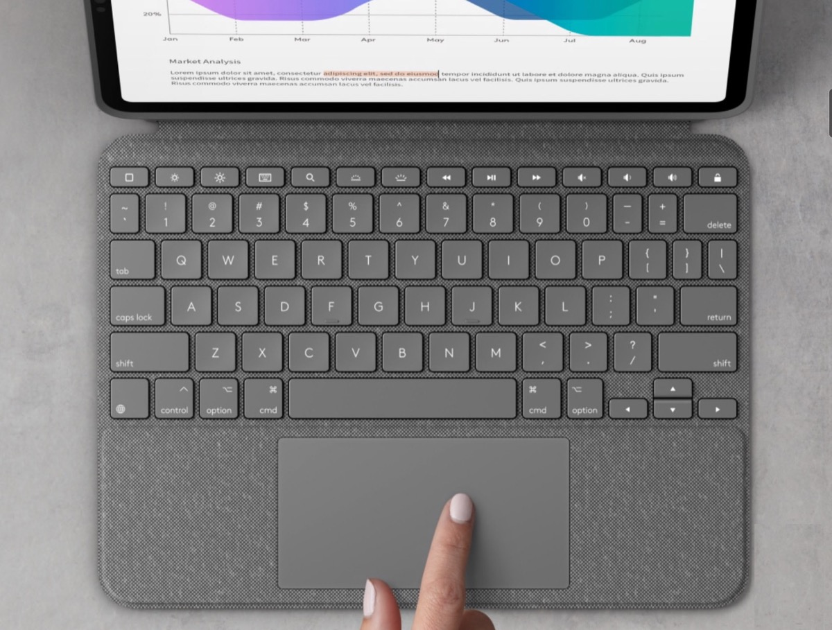 logitech combo touch ipad air 4