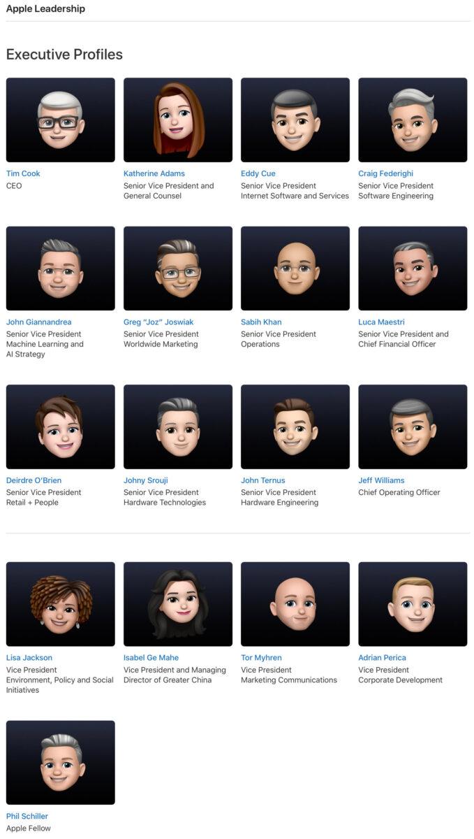 WWDC 2021, i profili dei dirigenti Apple tutti con le memoji