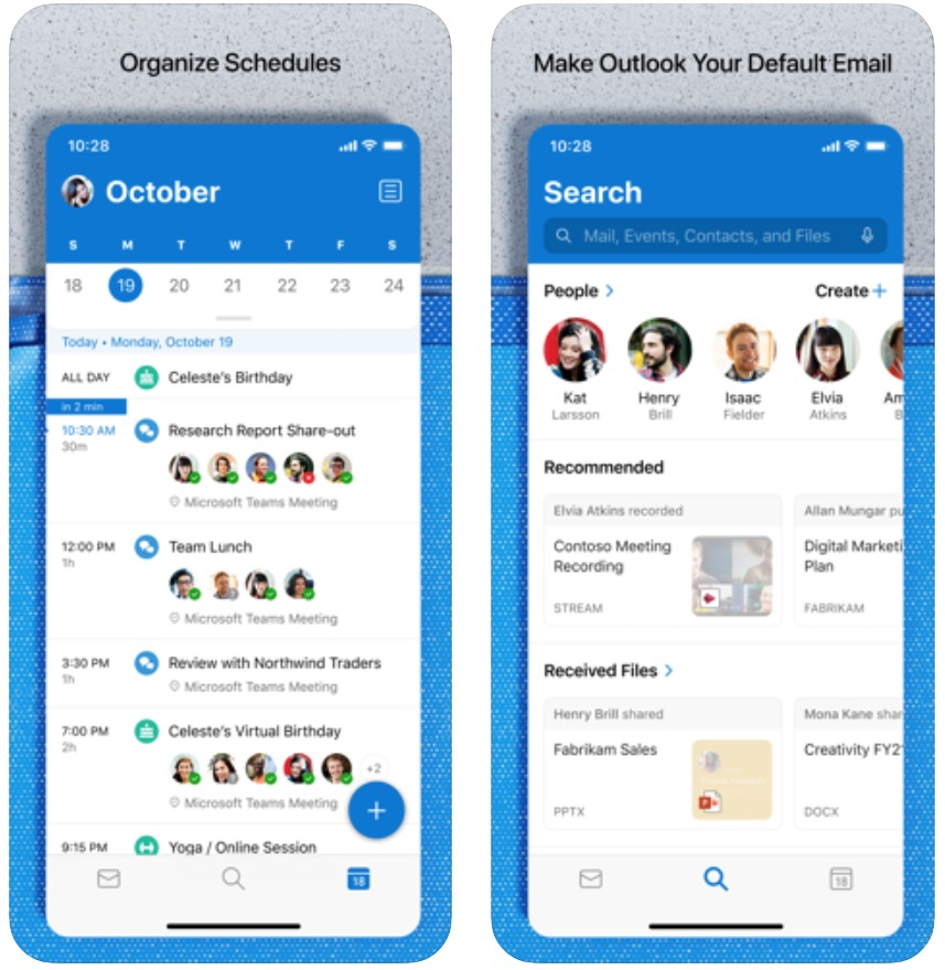 Con Microsoft Outlook per iPhone si possono dettare le email