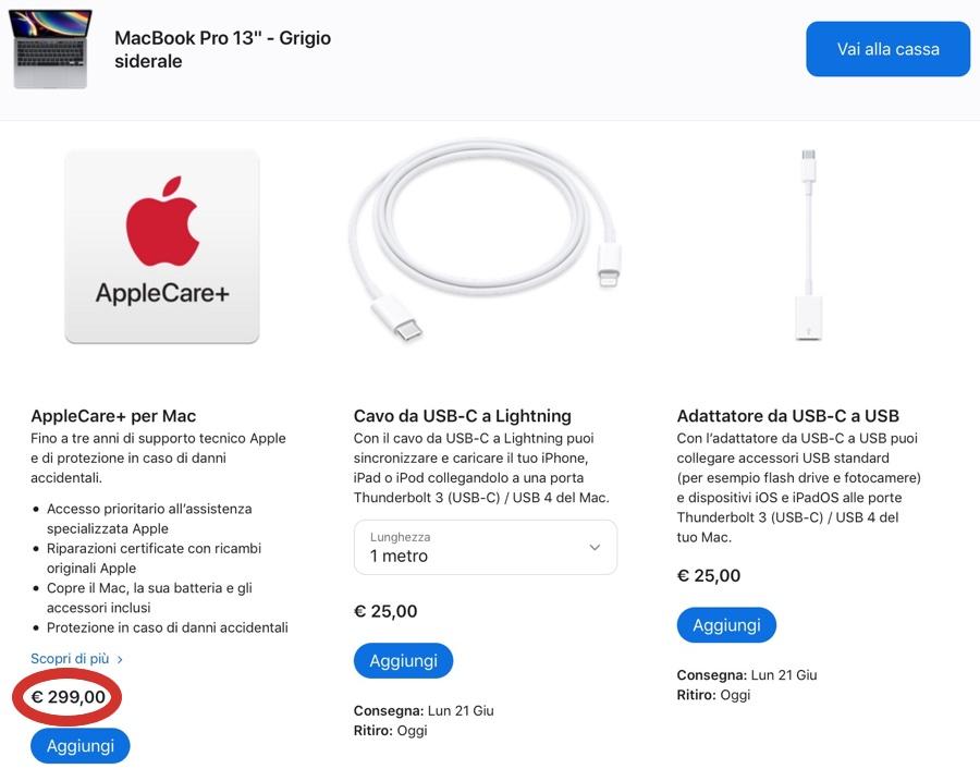 Apple riduce i prezzi AppleCare+ per MacBook Air e Pro