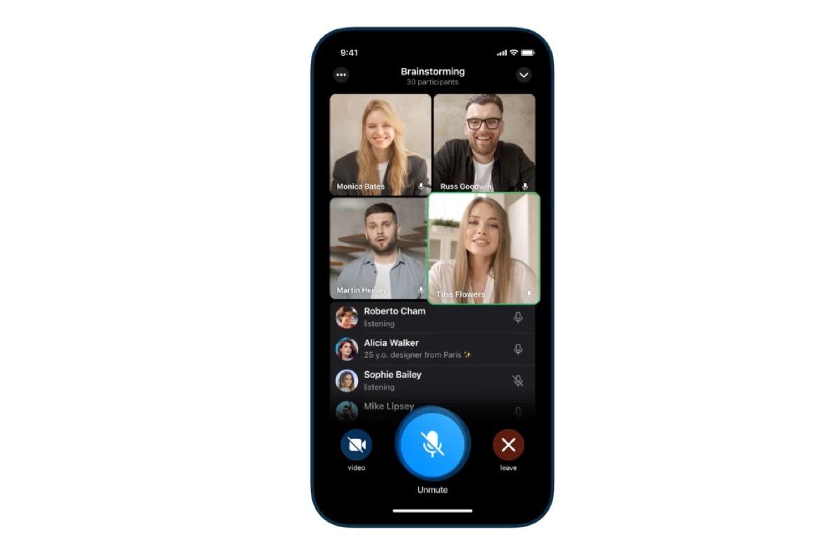 Telegram aggiunge le videochiamate di gruppo
