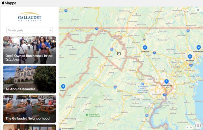Apple e Gallaudet University lavorano a Mappe per non udenti