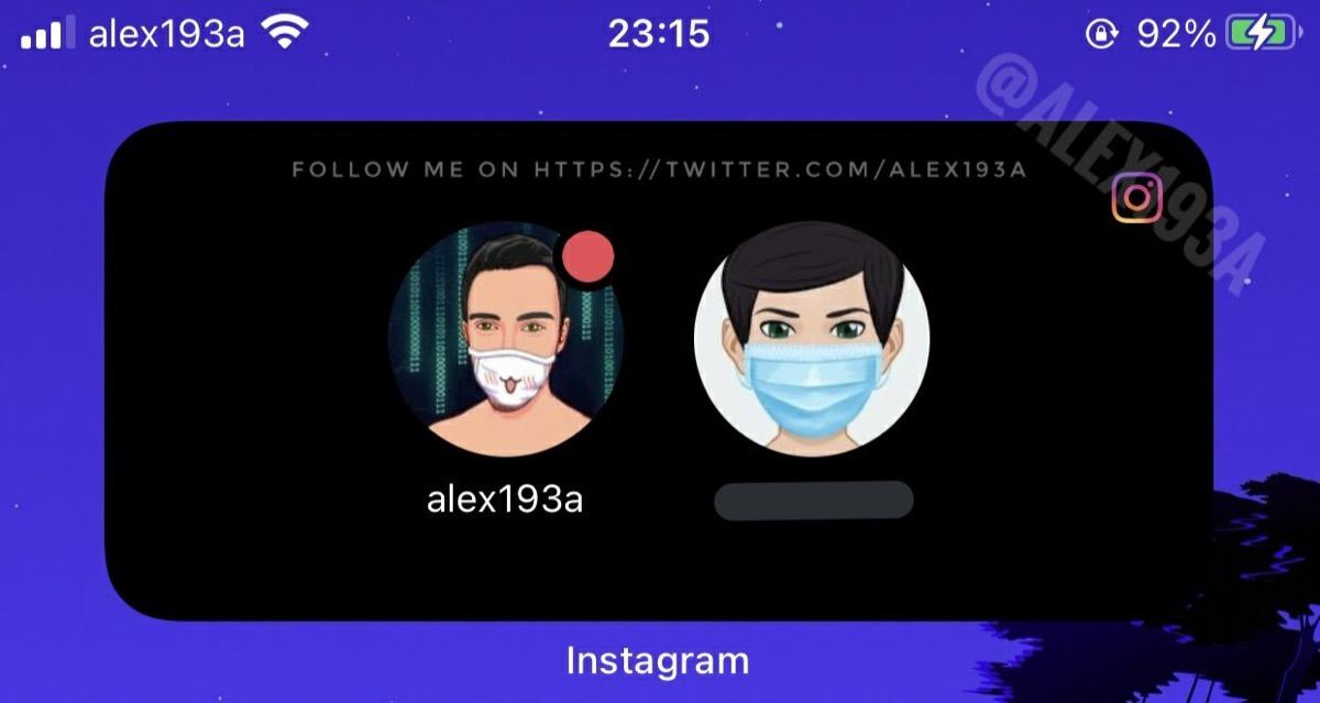 Instagram lavora al widget per cambiare account