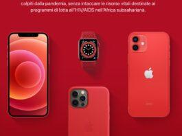 Apple collabora con (RED) contro il Covid per tutto il 2021